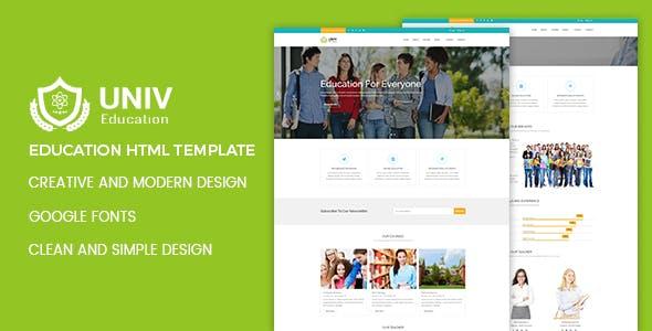 Univ - Education HTML Template