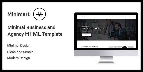 Minimart - Minimal Busines and Agency HTML5 Template - Business Corporate