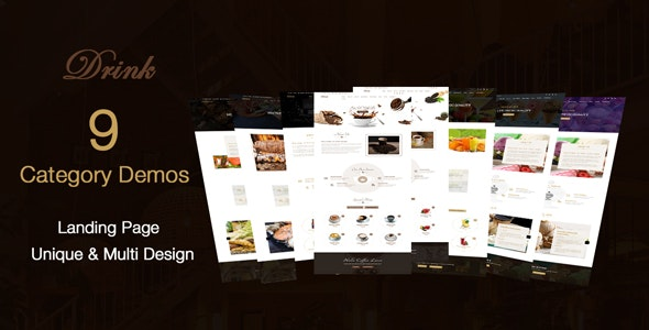 DRINK - Coffee - bar - Cafe & Restaurant  html template - Restaurants & Cafes Entertainment