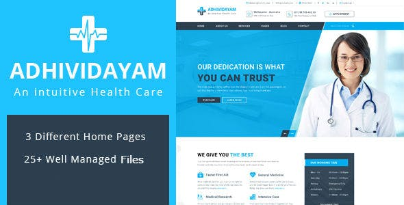Adhividayam - Medical Care WordPress Theme