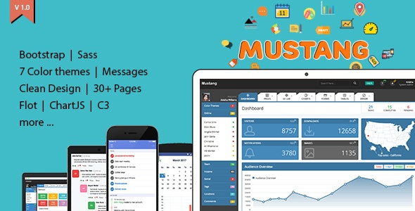 Mustang Admin Dashboard - Admin Templates Site Templates