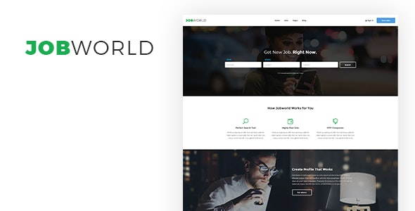 Job Portal Template | Job World by sanljiljan | ThemeForest