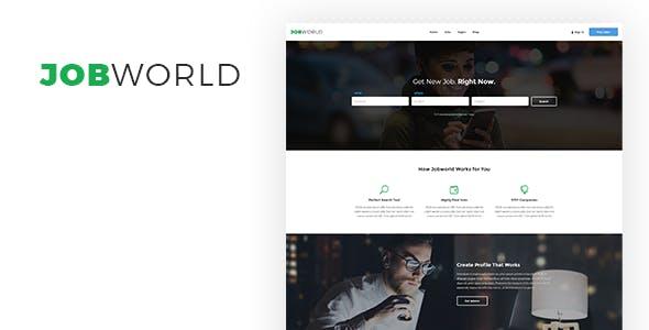 Job Portal Template | Job World