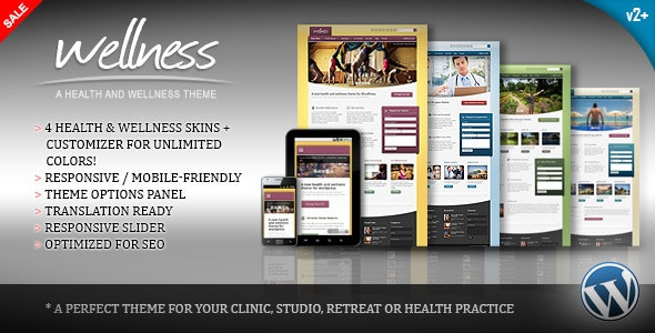Wellness - A Health & Wellness WordPress Theme - Health & Beauty Retail