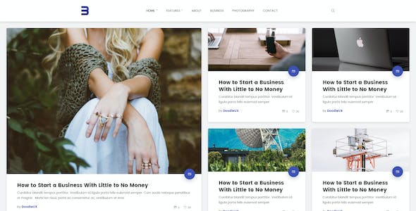 Buggy - Material Blog, Magazine PSD Template