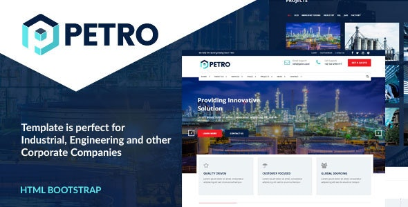 Petro - Industrial HTML Template - Business Corporate