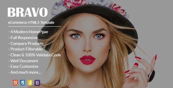Bravo eCommerce HTML5 Template - Shopping Retail