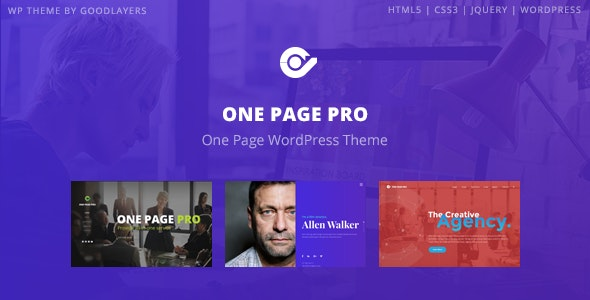 One Page Pro - Multipurpose WordPress - Business Corporate