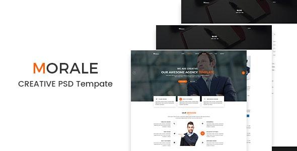 Morale - Creative PSD Template - Business Corporate