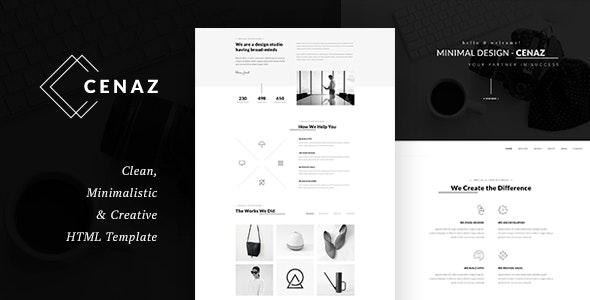 CEZAN - Minimal HTML Template - Creative Site Templates