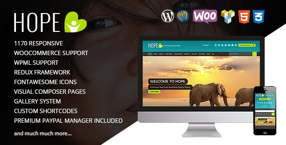 HOPE - Responsive WordPress Non-Profit Charity Theme - Charity Nonprofit