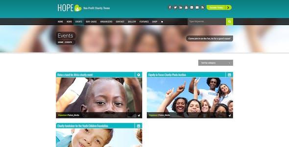 HOPE - Responsive WordPress Non-Profit Charity Theme