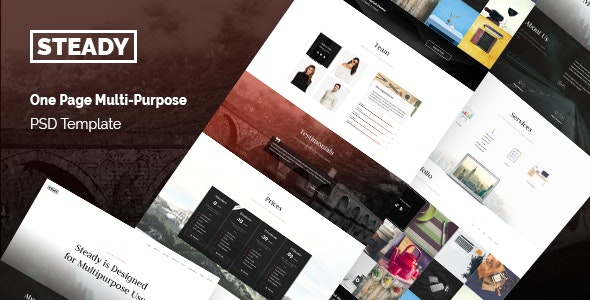 Steady - One Page Multi-Purpose PSD Template - Portfolio Creative