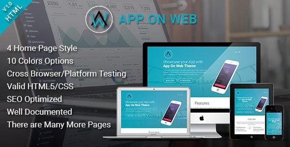 AppOnWeb - App Landing Page Responsive Template - Site Templates