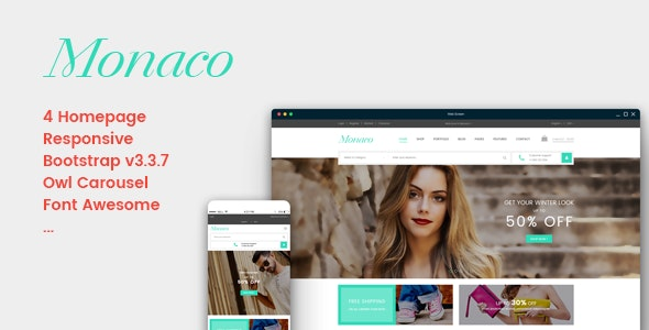 Monaco - Responsive eCommerce Template - Shopping Retail
