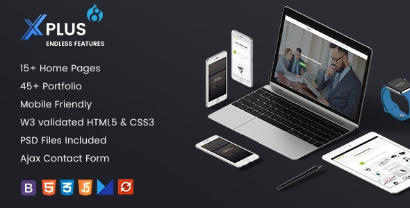 xPlus - Responsive Multipurpose Business Drupal 8 Theme - Business Corporate