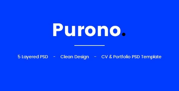Purono PSD Template - Portfolio Creative