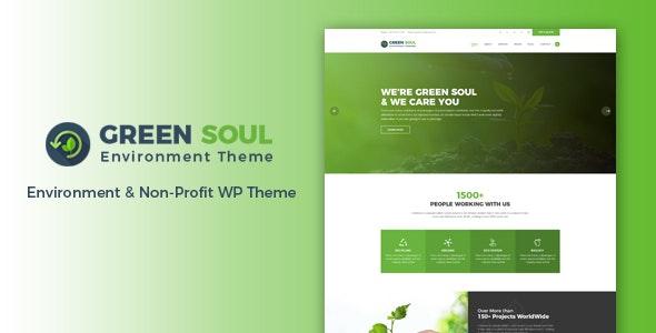 Green Soul - Environment WordPress Theme - Environmental Nonprofit