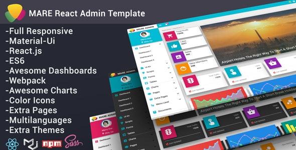 Mare - Material & React Admin Template - Admin Templates Site Templates