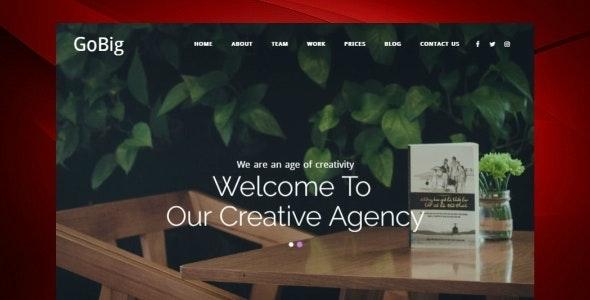 GoBig - MultiPurpose Business Responsive Template - Corporate Site Templates