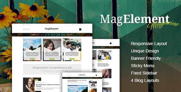 MagElement - Fresh & Modern WordPress Theme - Blog / Magazine WordPress