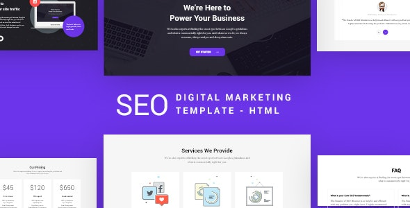 SEO - SEO & Digital Marketing Agency Template - Marketing Corporate