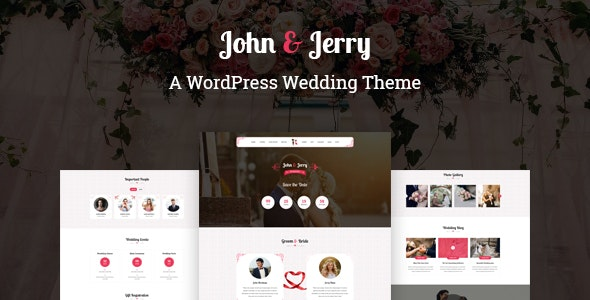 John & Jerry - A WordPress Wedding Theme - Wedding WordPress