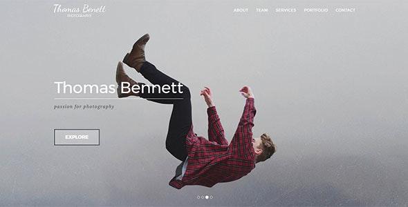 Thomas Benett - Creative Photography Template - Photography Creative
