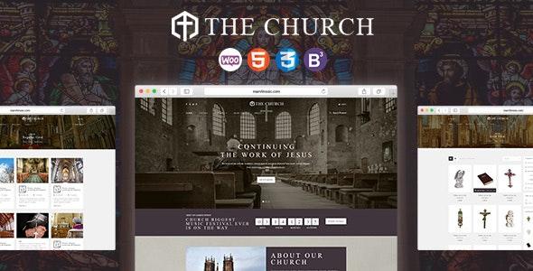 Church - Responsive WordPress Theme for Churches and Events - Churches Nonprofit