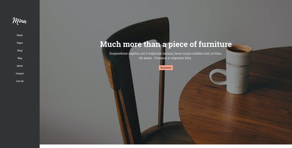 Mina - Furniture Shop PSD Template