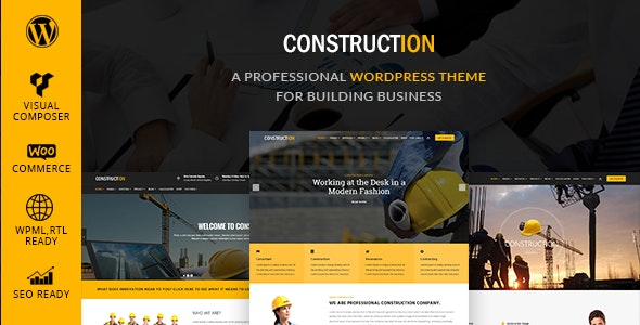 Construction - Building & Renovation WordPress Theme - Business Corporate