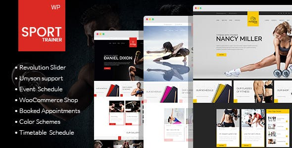 Sport Trainer - Boxing, Yoga and Crossfit Trainer WordPress Theme
