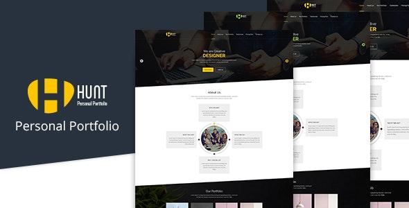 HUNT-Personal Portfolio PSD - Portfolio Creative