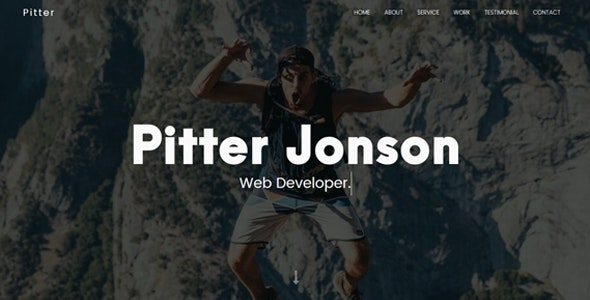 Pitter - Personal Portfolio Template - Personal Site Templates
