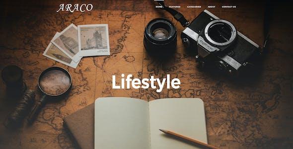 Araco –Clean Personal Blog PSD Template