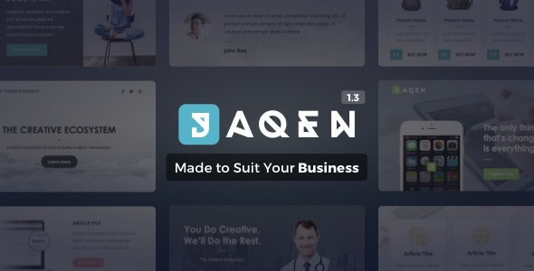 Jaqen | Business Email Set - Catalogs Email Templates