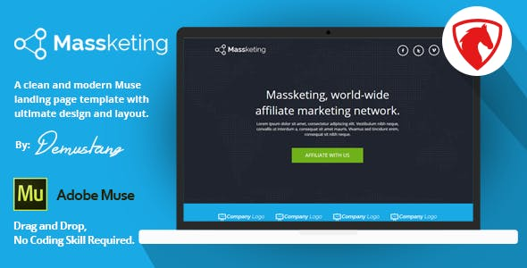 Massketing Muse Landing Page Template By Demustang Themeforest