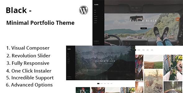 Black - Minimal Portfolio WordPress Theme - Portfolio Creative