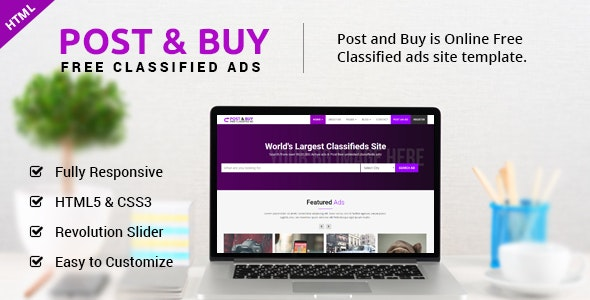 Post and Buy - Classified Ads HTML Template - Business Corporate
