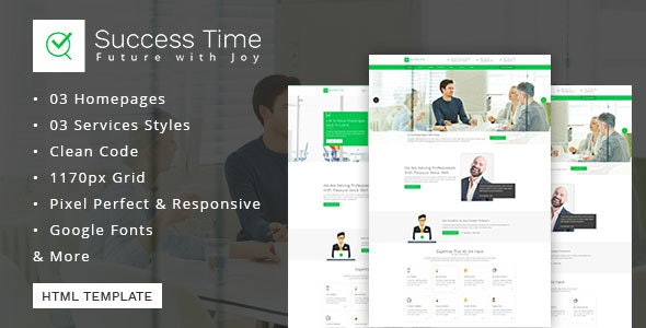 Consulting, Business, Finance And Accounting Template - Success Time - Business Corporate