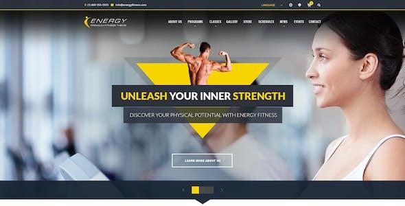 ENERGY - Responsive WordPress Fitness Theme