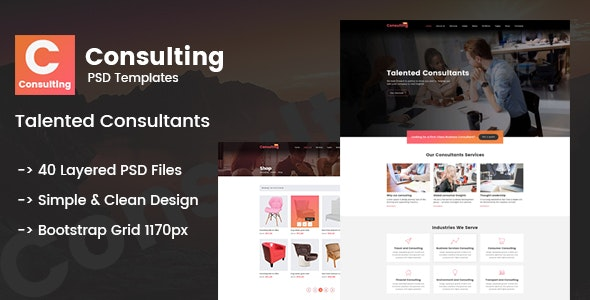 Consulting - Creative Multi-Purpose PSD Template - Corporate Photoshop