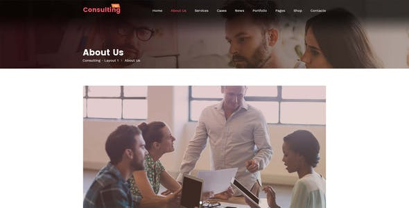 Consulting - Creative Multi-Purpose PSD Template