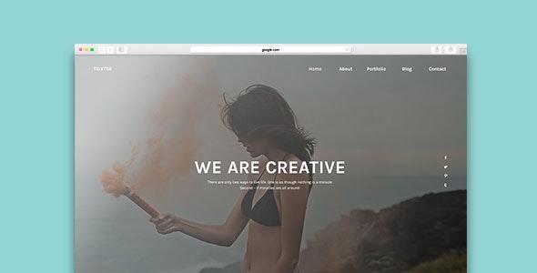 Trixter - One Page Psd Template - Creative Photoshop