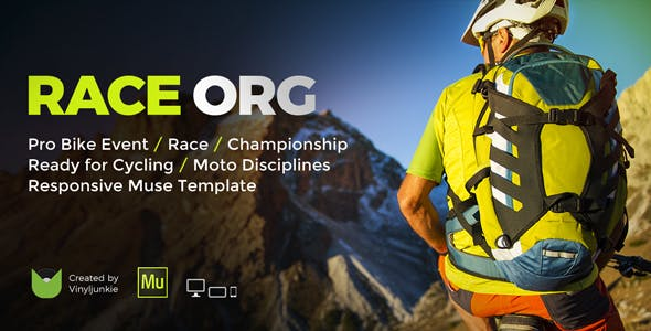 Download RaceOrg - Pro Cycling Mountain Bike Event / Race / Competition Muse Template