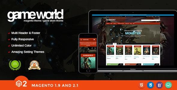 Game Store Responsive Magento Theme - Gameworld - Magento eCommerce