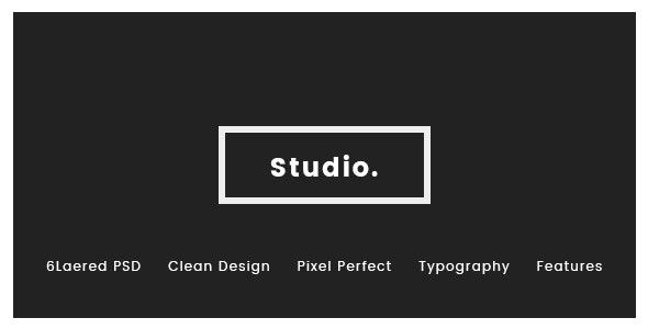 RDStudio PSD Template - Creative Photoshop
