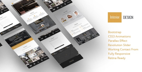 Interior Design - Bootstrap One-Page Template - Business Corporate