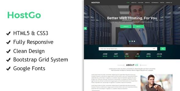 HostGo - Web Hosting Responsive HTML Template