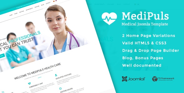Medipuls - Joomla Medical Template - Business Corporate